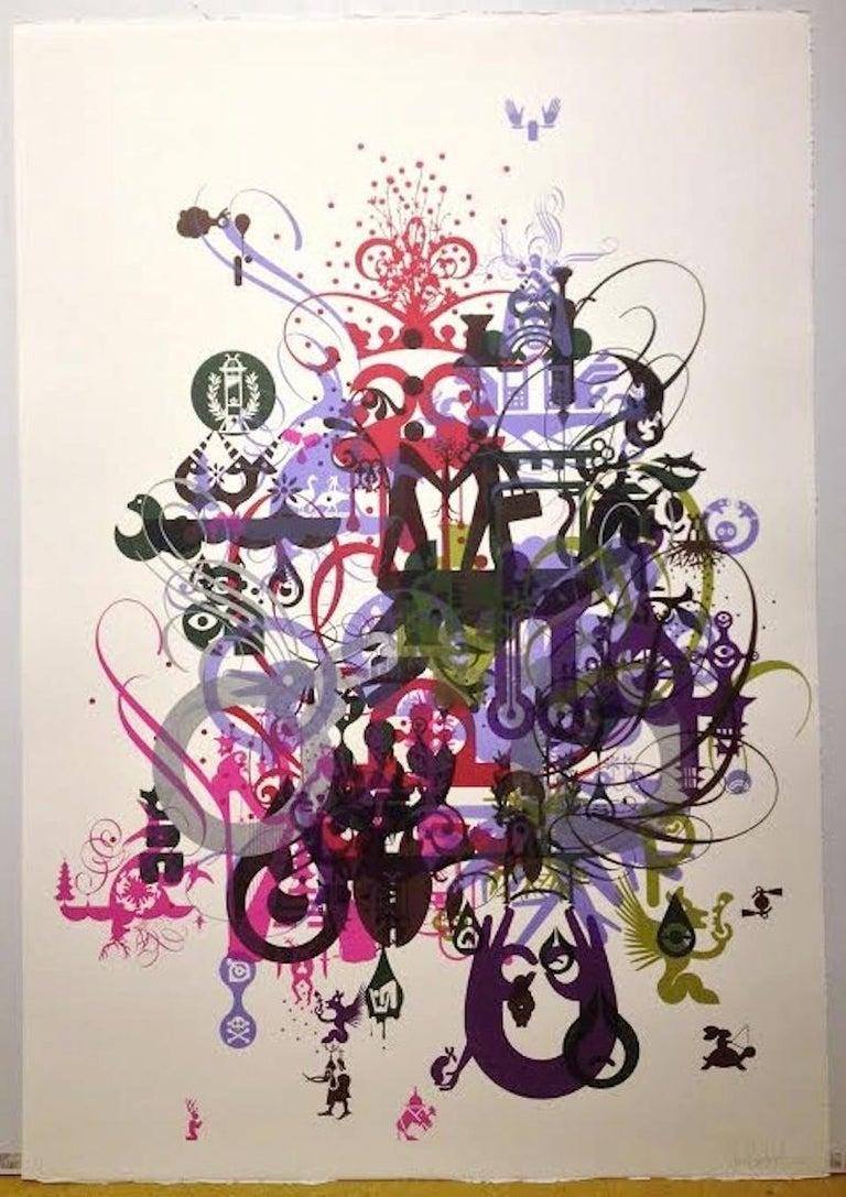 Ryan McGinness Abstract Print - Soma-Monoprint