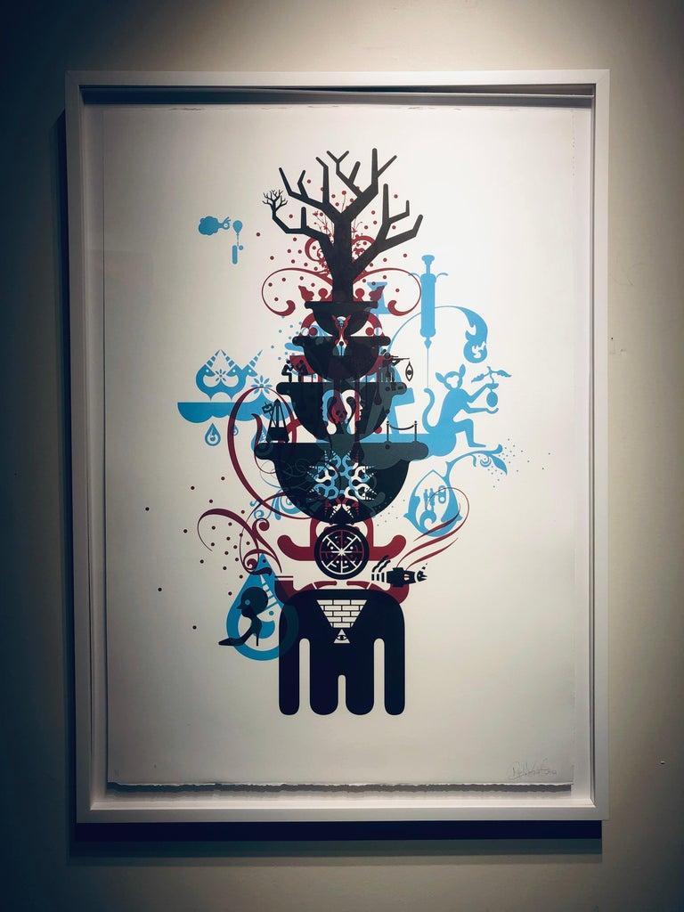 Stability-Monoprint - Contemporary Print by Ryan McGinness