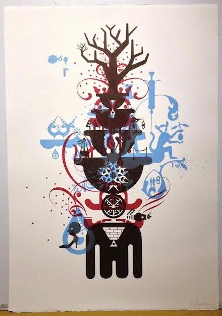 Ryan McGinness Abstract Print - Stability-Monoprint