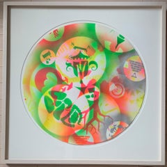 Untitled (24-inch Spray-paint Stencil Monoprint 3)