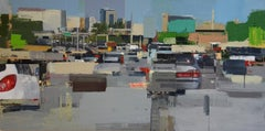Freeway No. 5 / color abstract city oil painting cars realism