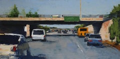 Freeway No. 7 / color abstract city oil painting cars urban realism