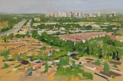 Sprawl No. 11 / architecture abstract city oil painting urban realism