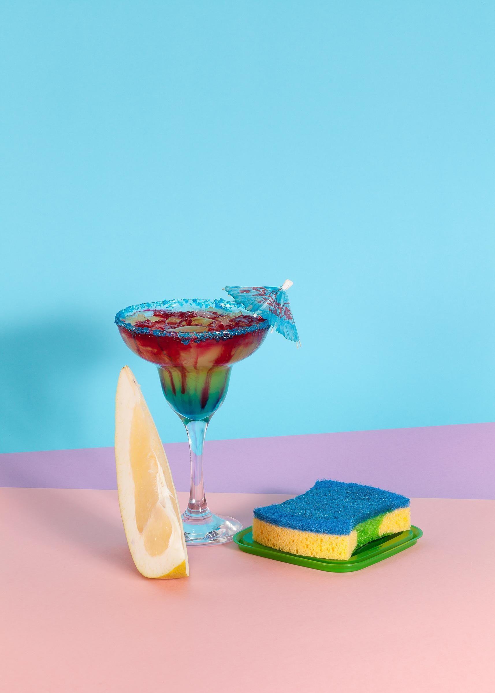 Sexy Miami Futuristic Cocktail Lounge, Giclée, Limited Edition, Pastel Palette