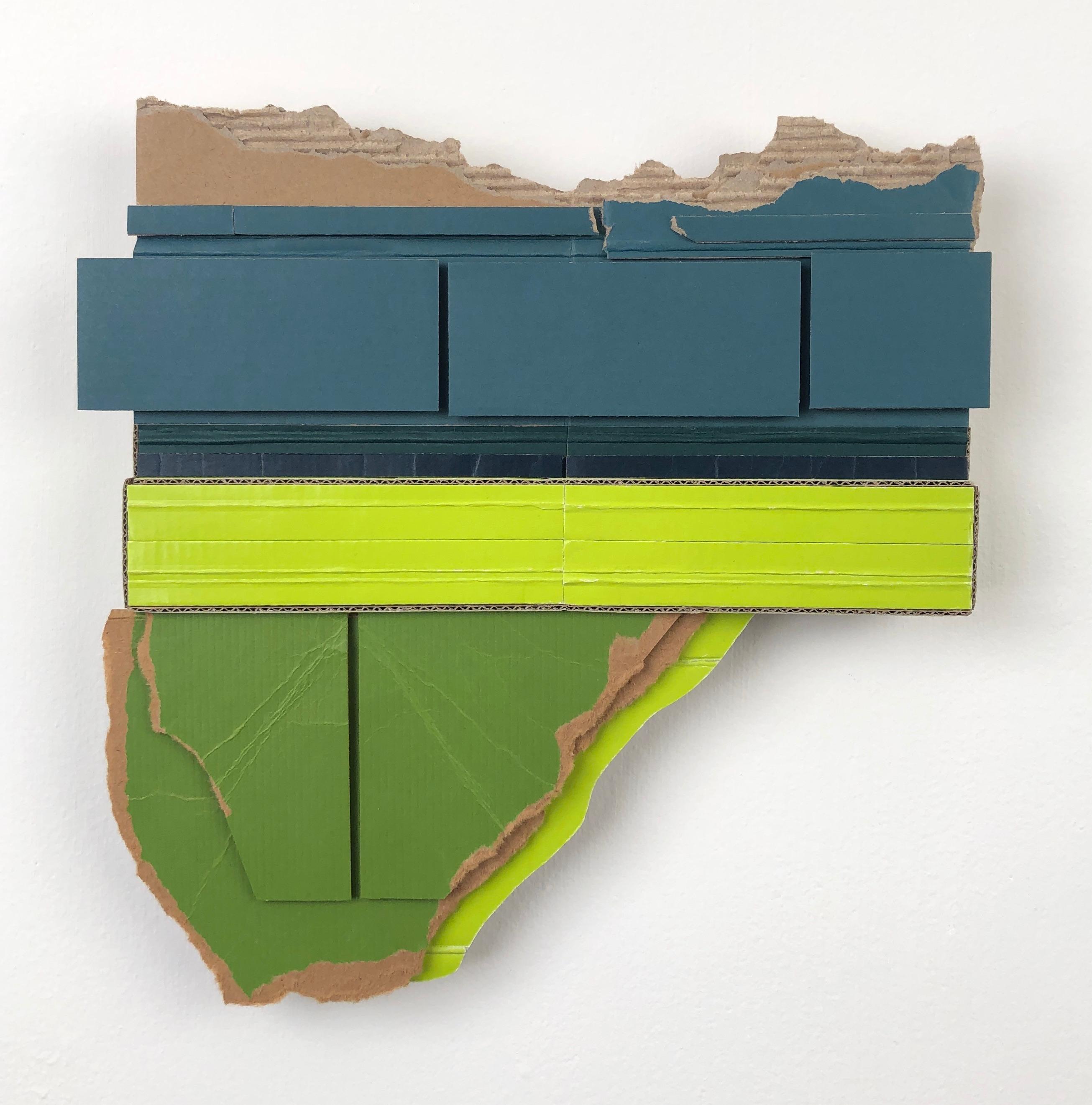 Ryan Sarah Murphy, Acreage, 2019, found (unpainted) cardboard, foamcore