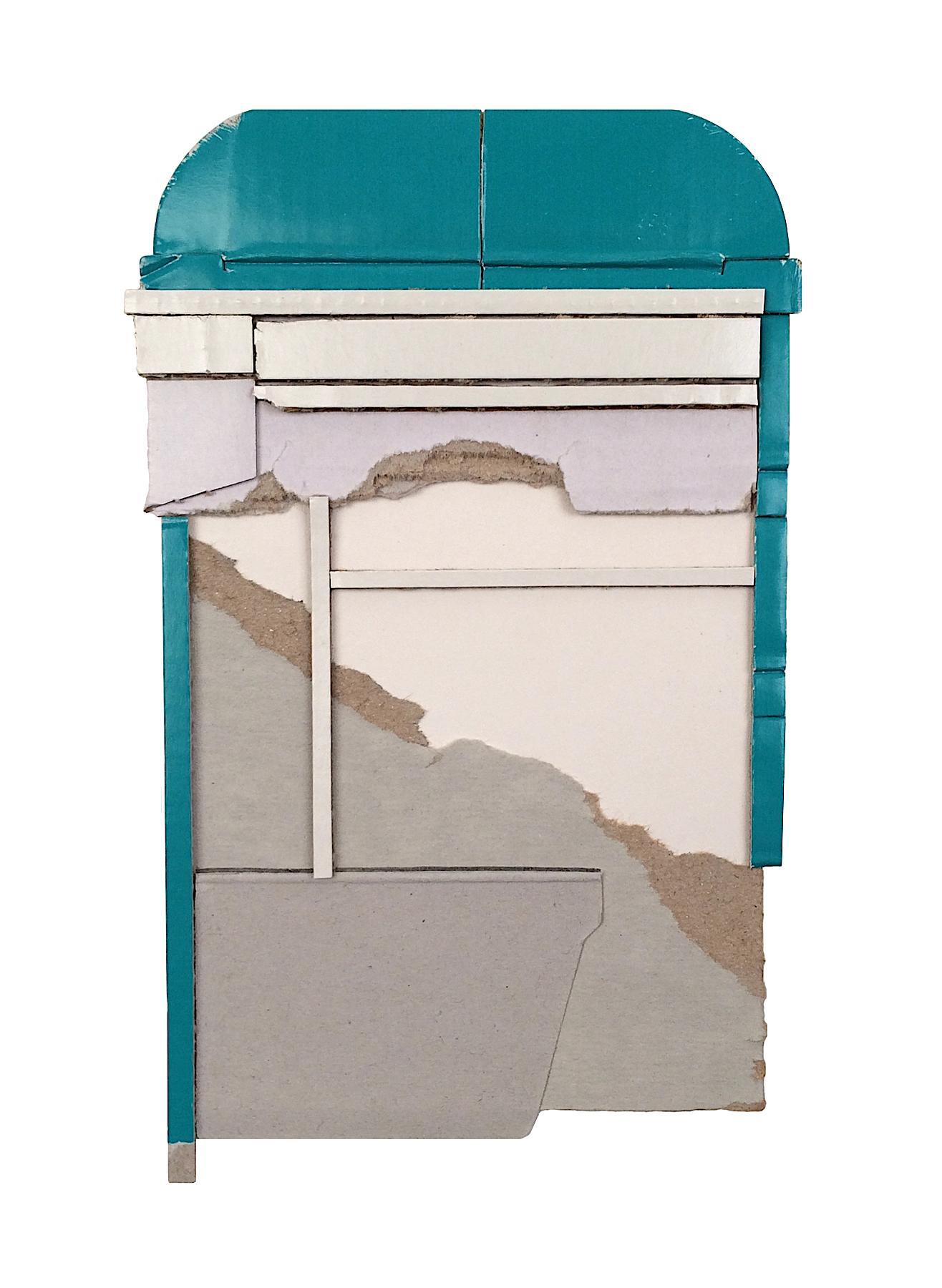 Ryan Sarah Murphy, After, 2012, cardboard collage, 7 x 4.25 in