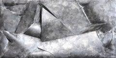 Automatic - sculptural mixed media wall artwork