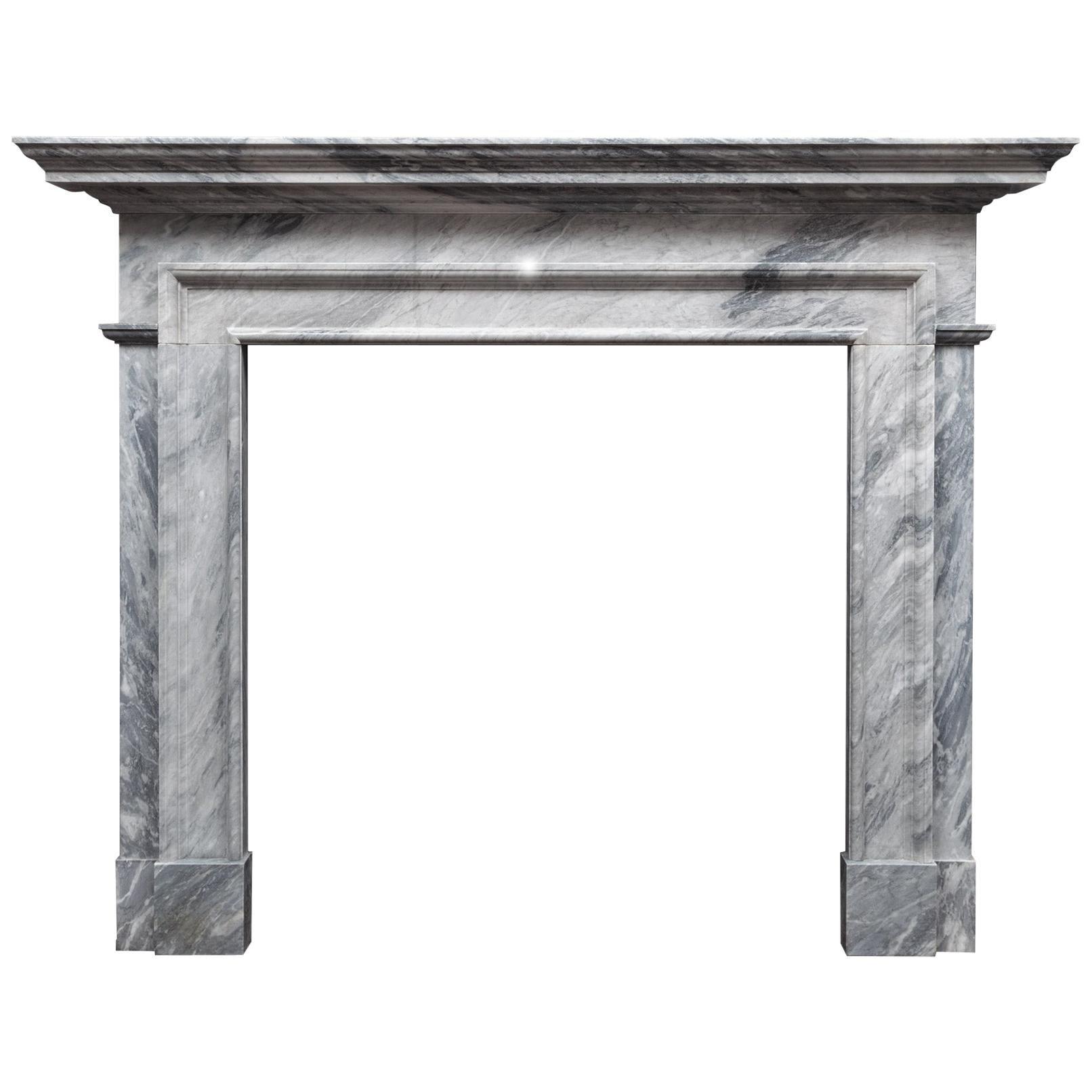 Ryan & Smith Grey Bardiglio Marble Fireplace