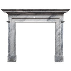 Ryan & Smith Grey Bardiglio Marble Fireplace