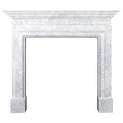 Ryan & Smith Italian Carrara Marble Fireplace