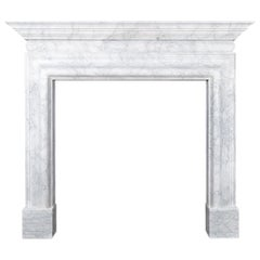 Ryan & Smith Italian Carrara Marble Fireplace