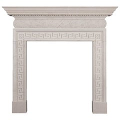 Ryan & Smith Lissadel Hand-Carved English Portland Stone Fireplace