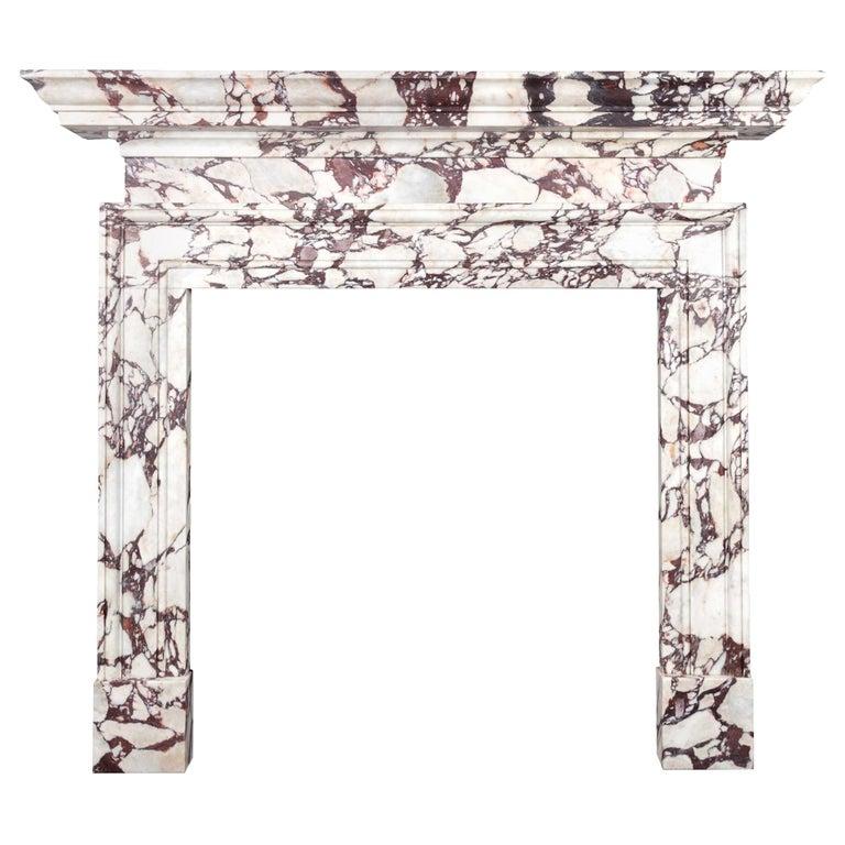Ryan & Smith Portavo Breccia Viola Marble Fireplace For Sale