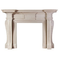Ryan & Smith Russborough, Large Palladian Portland Stone Fireplace