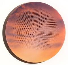 To Rise Again - Sunset Orange Tondo Laser Cut Design With Mirror