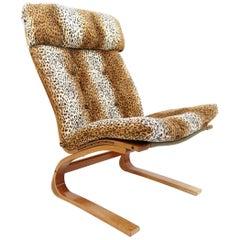 Rykken Kengu Leopard Lounge Chair by Elsa and Nordahl Midcentury
