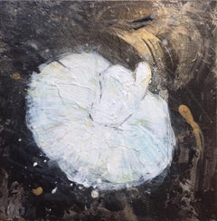 'Tiny Dancer II', Contemporary Abstract Mixed Media Ballerina Miniature Painting