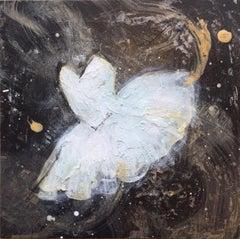 'Tiny Dancer XI', Contemporary Abstract Acrylic Ballerina Painting Mini Series