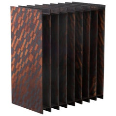Ryota Akiyama BTF Shelf Contemporary Steel Work with Rust Patterns