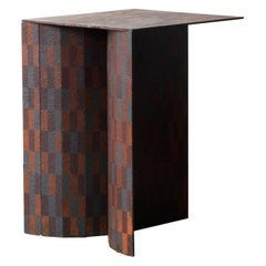 Ryota Akiyama BTF Stool / Table Contemporary Steel Work with Rust Patterns