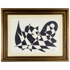 Rythm Into Form- by Istvan Karoly Szasz, Ink on Paper Original, 1976