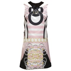 S/2015 look #13 NEW VERSACE PINK MINI DRESS W/ PATENT LEATHER DETAIL 38 - 4