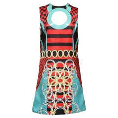 """S/2015 look # 30  NEW VERSACE """"STAINED GLASS WINDOW"""" MINI DRESS 38 - 4"""
