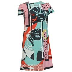 """S/2015 NEW VERSACE ABSTRACT PRINT """"STAINED GLASS WINDOW"""" Dress 38 - 4"""