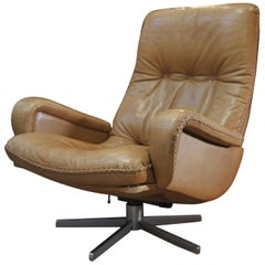 S 231 Swivel James Bond Swivel Amchair from De Sede, 1960s