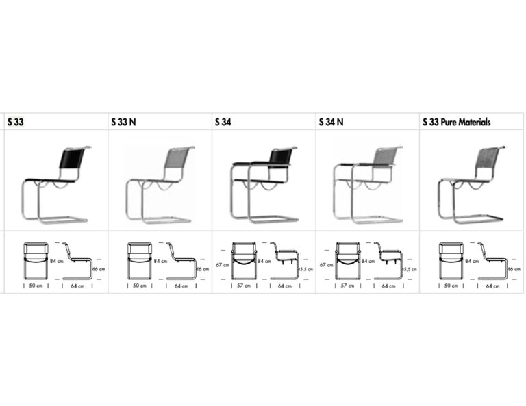 German S 34 Cantilever Armchair Designed by Mart Stam For Sale
