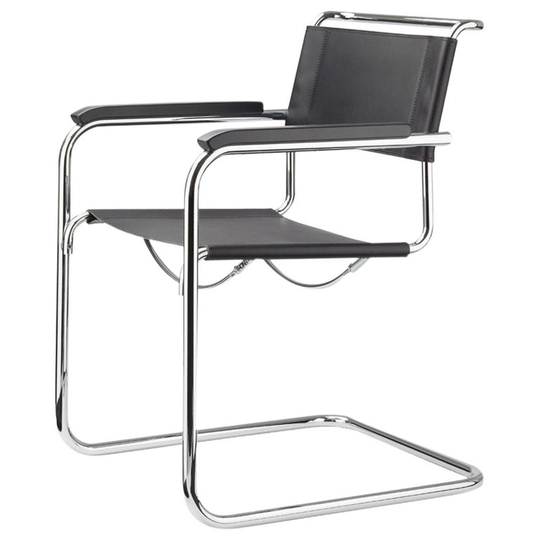 S 34 Cantilever Armchair Designed by Mart Stam For Sale