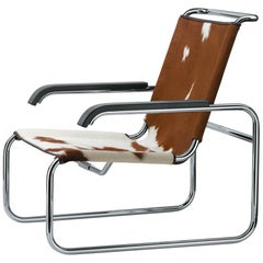 S 35 Cantilever Cow Hide Lounge Armchair Designed by Marcel Breuer