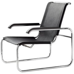 S 35 Cantilever Leather Lounge Armchair Designed by Marcel Breuer