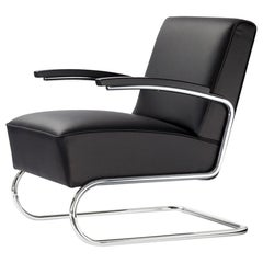 S 411 Leather Cantilever Lounge Chair
