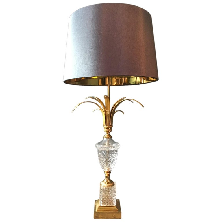 S A Boulanger Crystal Table Lamp For Sale At 1stdibs