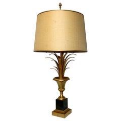 S A Boulanger Gilt Pineapple Table Lamp