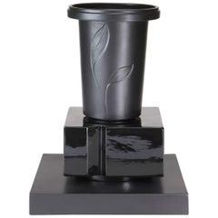 S. Asti, Ceramic Vase Collection Black&Black, Model Padma, Superego Editions