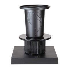 S. Asti, Ceramic Vase Collection Black&Black, Model Rama, Superego Editions