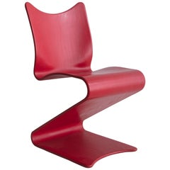 S-Chair No. 275 in Red by Verner Panton, 1956