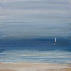 """""""End of Day"""", Small Seascape Painting"""