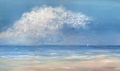"""""""On the Wind,"""" Coastal Seascape Painting"""