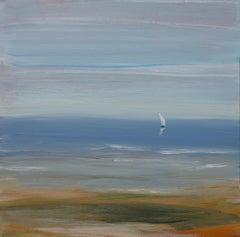 """Slight Breeze"", Small Seascape Painting"