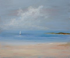 """Sunday Sail,"" Small Seascape Painting"