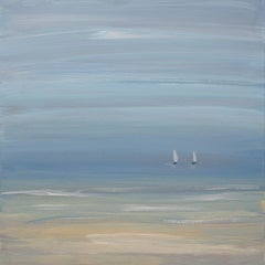 """""""Two's Company"""", Small Seascape Painting"""
