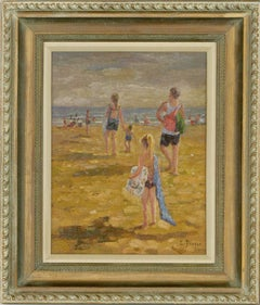S. Druper - Contemporary Oil, A Day at the Beach