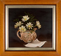 Still-Life with Daisies and Cut Crystal Vase
