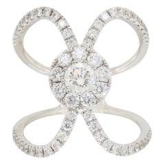 S. Kashi Negative Space Style Diamond Ring