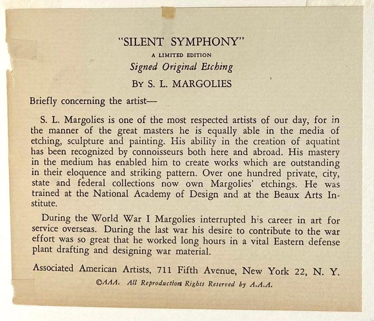 Silent Symphony - Beige Landscape Print by S. L Margolies