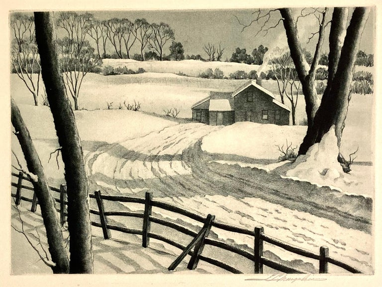 S. L Margolies Landscape Print - Silent Symphony
