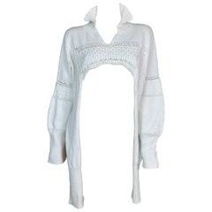 """S/S 1986 John Galliano """"Fallen Angels"""" Ivory Knit Frock Sweater Jumper"""